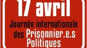 17 avril – Journée internationale de solidarité avec les prisonniers politiques