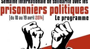 Programme de la Semaine internationale de solidarité avec les prisonnières-ers politiques 2014