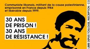 25 octobre 2014 : Georges Abdallah entame sa 31e année de détention