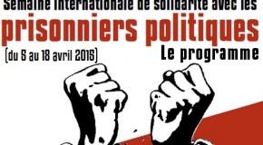 Programme de la Semaine internationale de solidarité avec les prisonnier.e.s politiques 2015