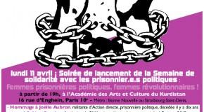 [Semaine 2016] Le débat inaugural : Femmes prisonnières politiques, femmes révolutionnaires !