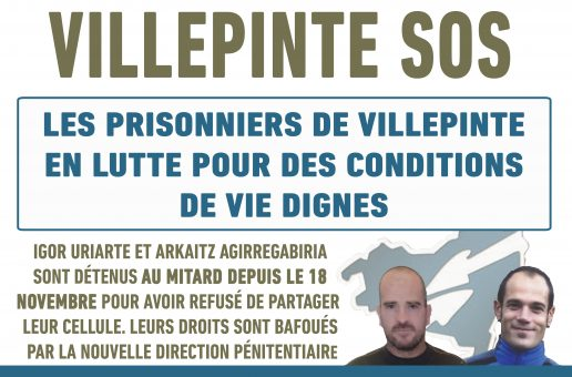 Les prisonniers politiques basques de Villepinte en lutte