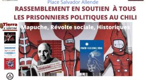 manifestation en appui aux prisonniers politiques au Chili