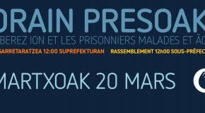 Libérez Ion Parot ainsi que les prisonniers basques malades et âgés !